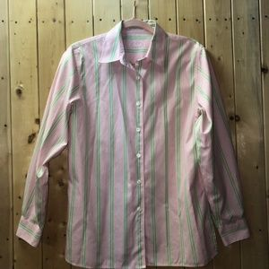 Foxcroft blouse long-sleeve stripe 10